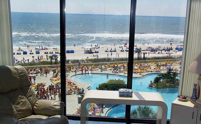 Edgewater Beach Resort Gulfside Lagoon Pool View From Unit T1 502